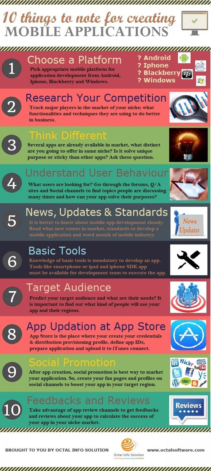 10 Things To Note for Creating Mobile Applications