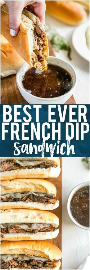 Crockpot French Dip Sandwich