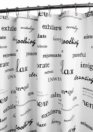 Park B. Smith Resort Watershed Shower Curtain, White/Black By Park B.