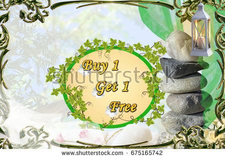 Buy 1 Get 1 Free tittle on ornate background with green frame, stones, lantern, flowers, towels, veils https://www.shutterstock.com/hu/image-photo/buy-1-get-free-tittle-on-675165742?src=GK7TPfzOMgzoceLqIyiBAQ-1-1  Portfolio: https://www.shutterstock.com/g/Somogyi+Timea?rid=176104528&utm_medium=email&utm_source=ctrbreferral-link