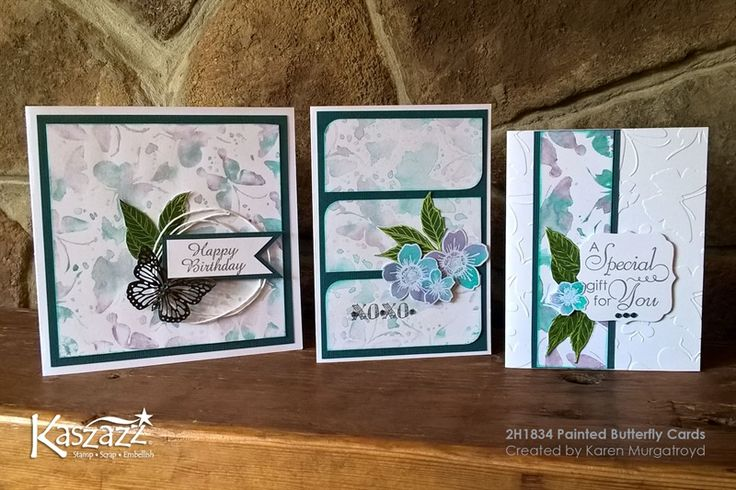 2H1834 Painted Butterfly Cards