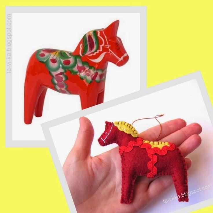 елочная игрушка - лошадка