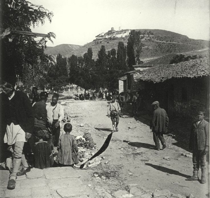 alasonya (elassona)Sabah erken saatlerde.  (1915)