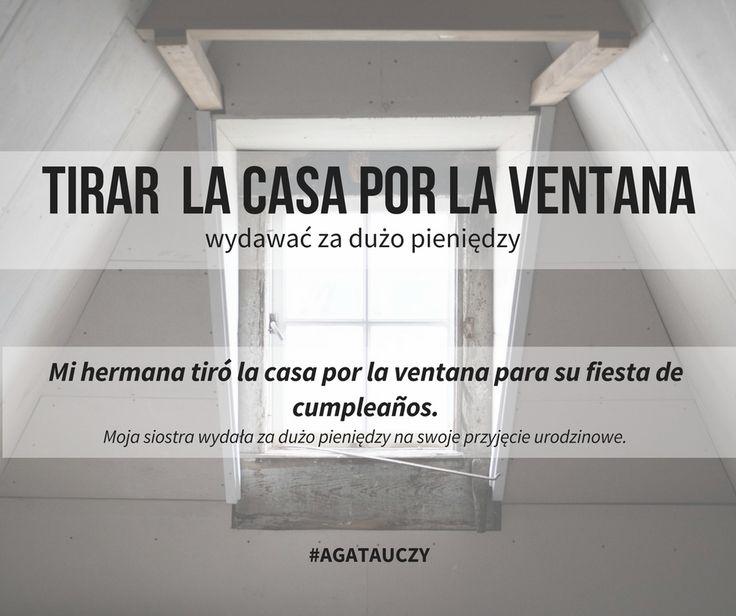 gdyby tłumaczyć idiomy dosłownie to dziś wyrzucamy dom przez okno 😄 #idiomy #español #hiszpański #agatauczy