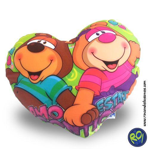 Cojin Corazón Osos de Pelanas... encuéntralos en nuestros puntos de venta. #cojin #corazon #peluches #regalos #rincondeilusiones Número Único: 444 73 42 Si lo quieres dale me gusta!!
