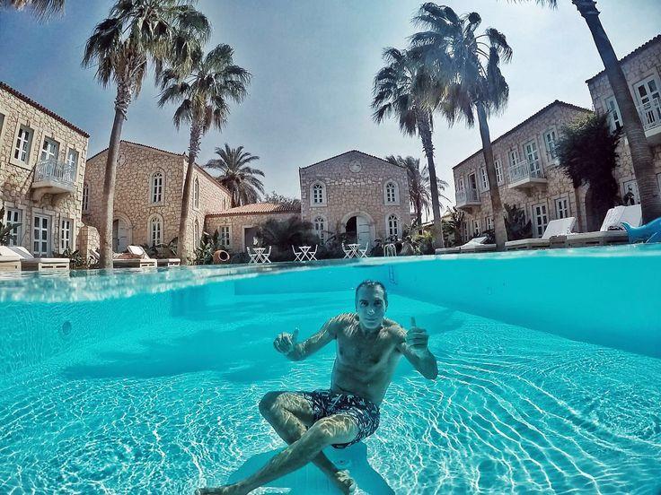 Relax and fun in the pool.  www.manastiralacati.com.tr