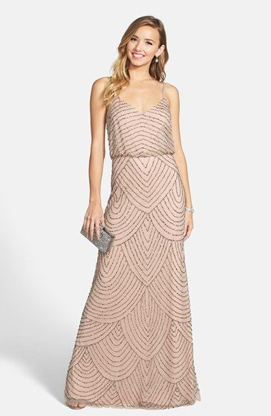 Beautiful bridesmaid dress - Adrianna Papell Embellished Blouson Gown (Regular & Petite) | Nordstrom