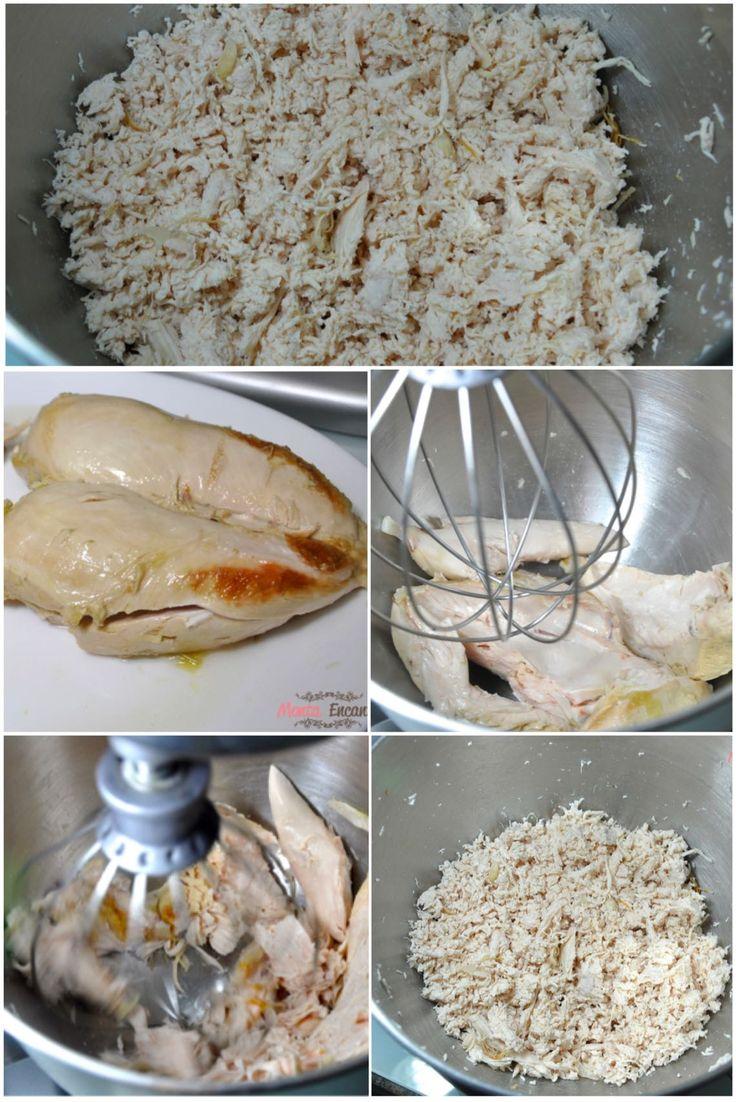 Como desfiar o frango em 1 minuto, na batedeira, com perfeição, a mesma técnica pode ser usada para desfiar, carne, carne seca, bacalhau ...
