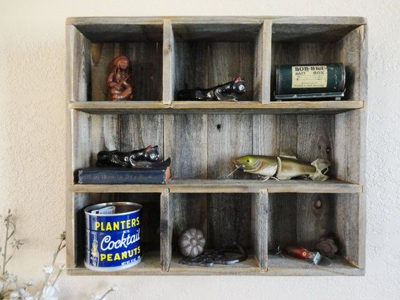 Recycled Wood Shelf Repurposed From Reclaimed Wood Rustic Hanging Curio Miniature Shelf Home
