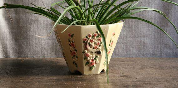Vintage Jardiniere Decorative Ceramic Planter by FoundByHer, $40.00