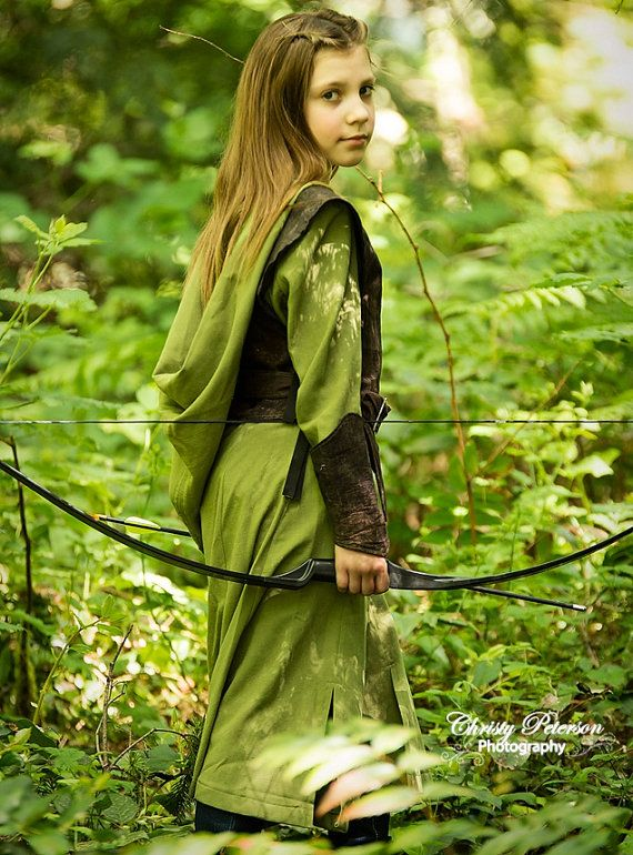 Preteen Girlu0027s Tauriel The Warrior Elf Costume by EraOfMakeBelieve $185.00  sc 1 st  Pinterest : girls elf costumes  - Germanpascual.Com