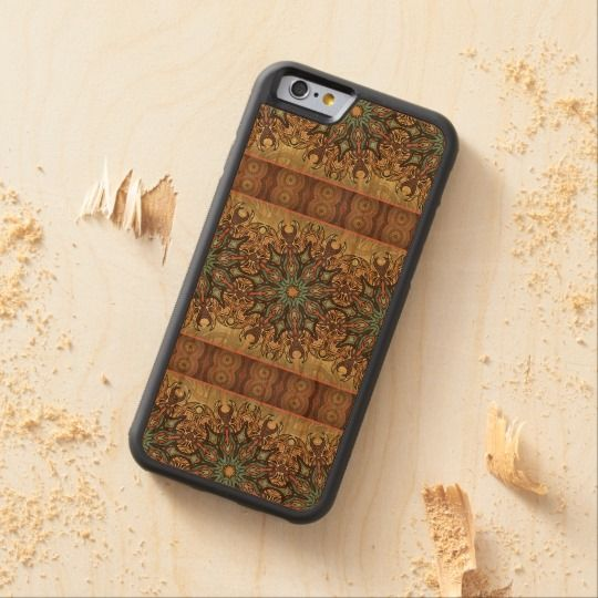Colorful abstract ethnic floral mandala pattern carved® cherry iPhone 6 bumper