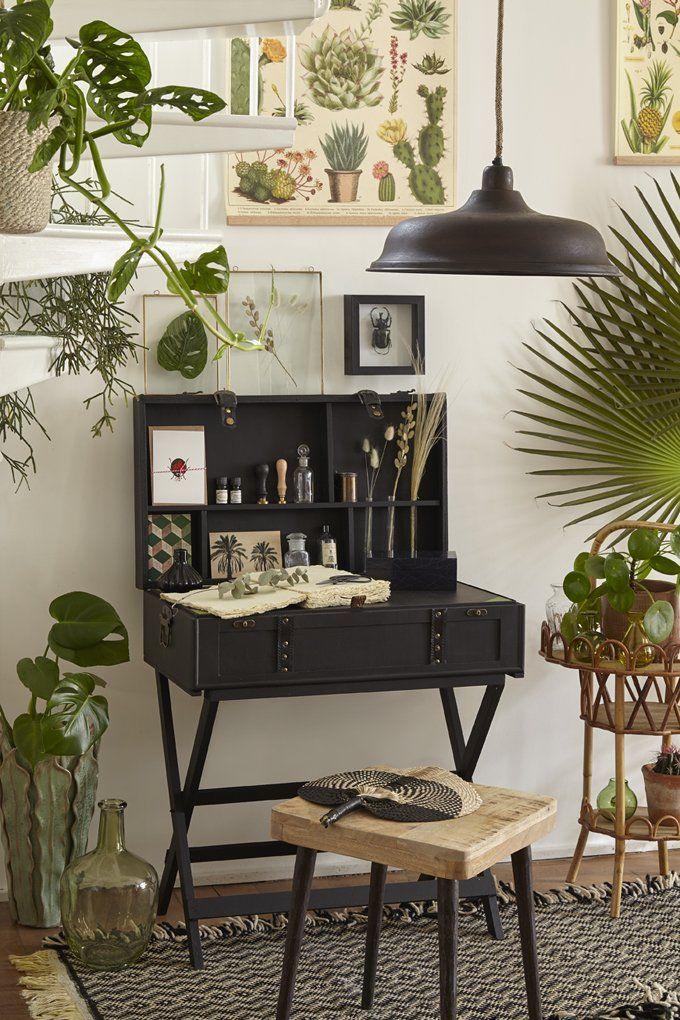 Transformer une malle de voyage en bureau fabriquer un - Transformer une armoire en bureau ...