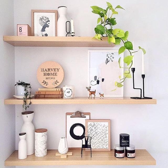 • THE GUIDE HOME •  Miss Kyree Loves sure knows how to style floating shelves.