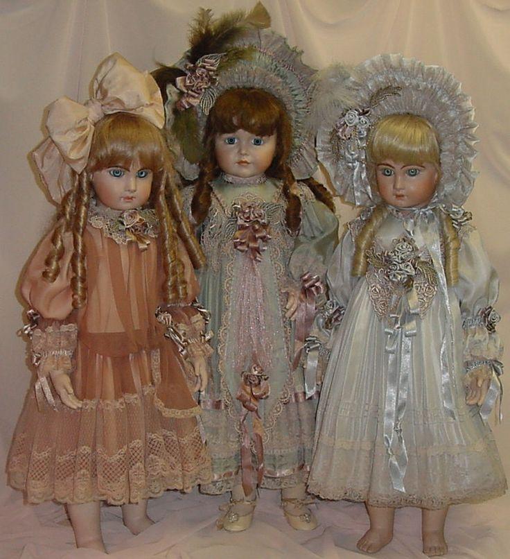 "27"" 29"" Dolls Dressed in Silk ♥ Dollightfully Yours ♥Dresses by Cheryl Imbornone"