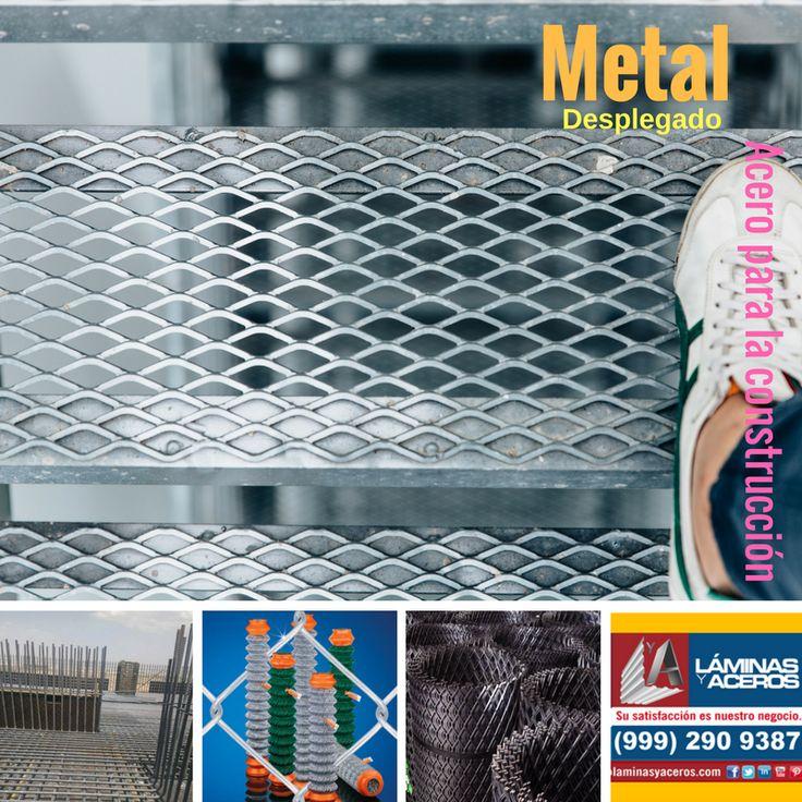 Metal desplegado para la fabricación de pasos de gato y escaleras o para delimitar areas