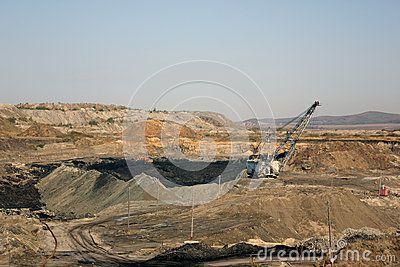 Сoal open cast mining in Russia
