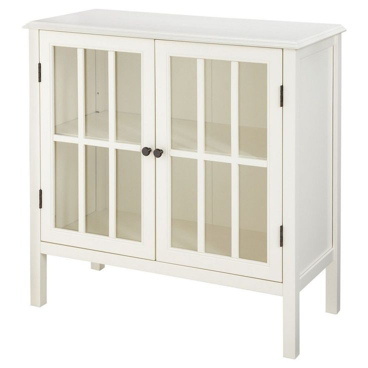 Windham 2 Door Accent Cabinet Shell White