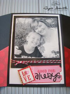 handmade photo card from Doodlebug Design Inc Blog ... photo inside a stand up card ... tutorial on the blog ...  sweet presentation ...