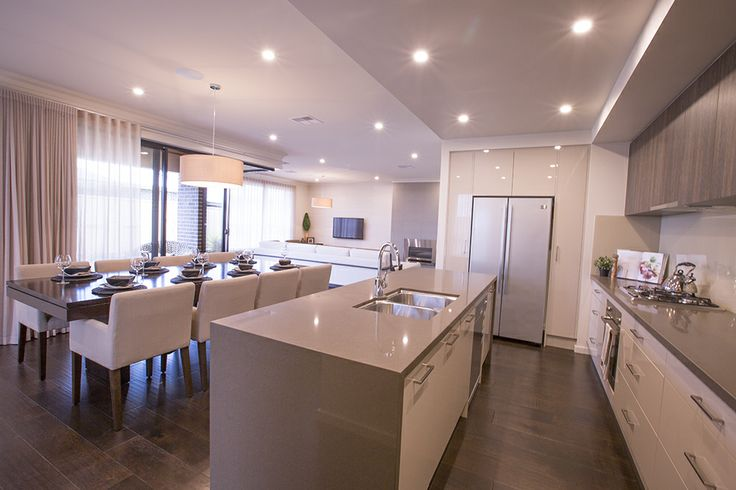 This vast open plan kitchen, dining and living are…