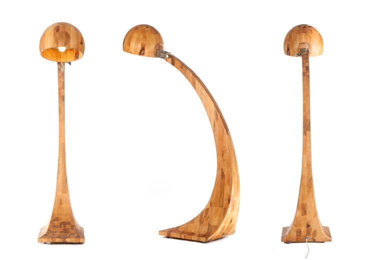 Niesamowita, drewniana lampa Woobia. Zaprojektowana przez polskiego artystę Abadoc http://gotowewnetrza.pl/sklep/woobia-lampa/