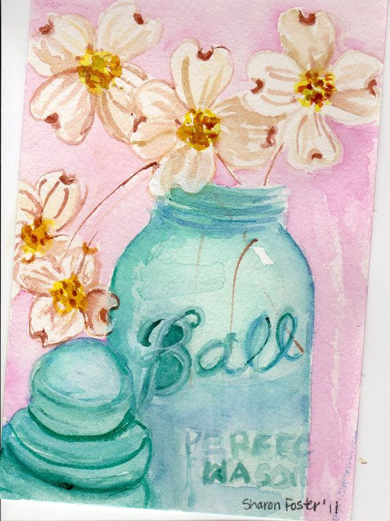 Mason Jar Wall Art 151 best ball jar artwork images on pinterest | ball jars, canvas