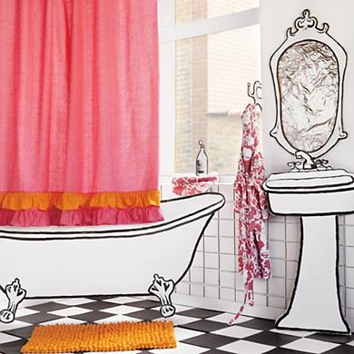 17 best images about ideas for my kiddos bathroom on for Pink and orange bathroom ideas
