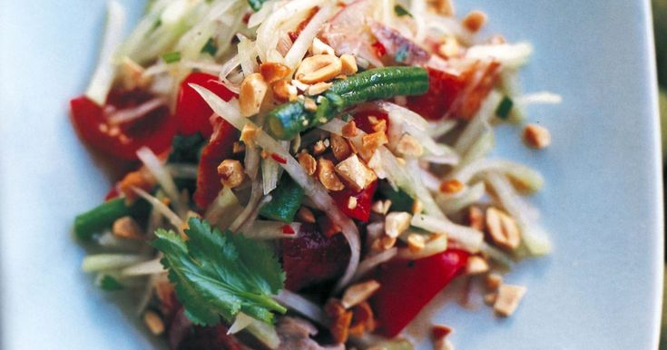 This delicious salad combines the delightful complementary flavours of duck, papaya, chilli and peanuts.