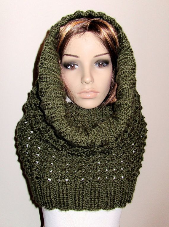 Twisted Knitted Snood / Cowl Pattern PDF by chezpascale on Etsy