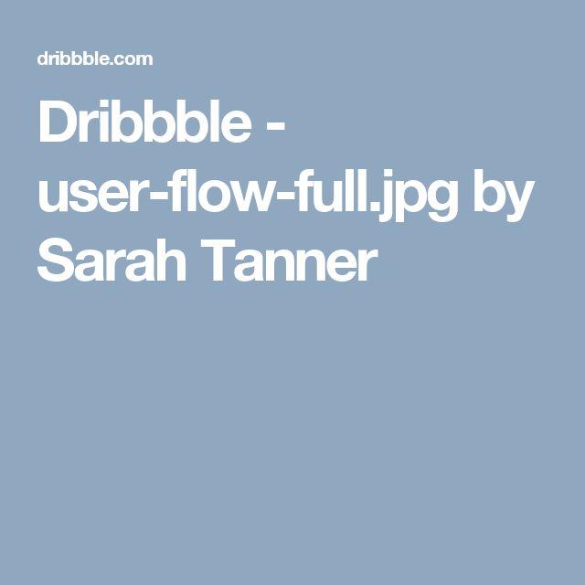 Dribbble - user-flow-full.jpg by Sarah Tanner