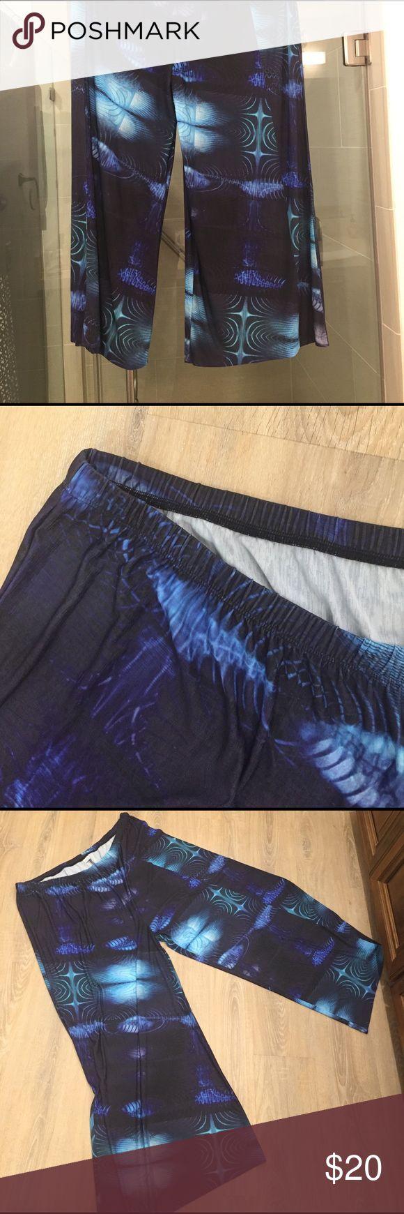 Printed palazzo pant Brand-new no label no tags never worn,large size palazzo pants with elastic waist Pants