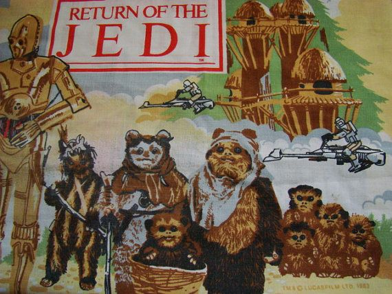Star Wars Return of the Jedi Pillowcase, 1983. 26.00 https://www.etsy.com/shop/ForestStreetVintage