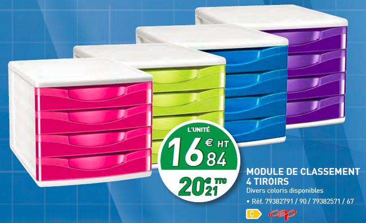 Module de classement à 4 tiroires : http://www.bureau-vallee.fr/bloc-de-classement-4-tiroirs-cepbox-gloss-fuchsia-78648.html