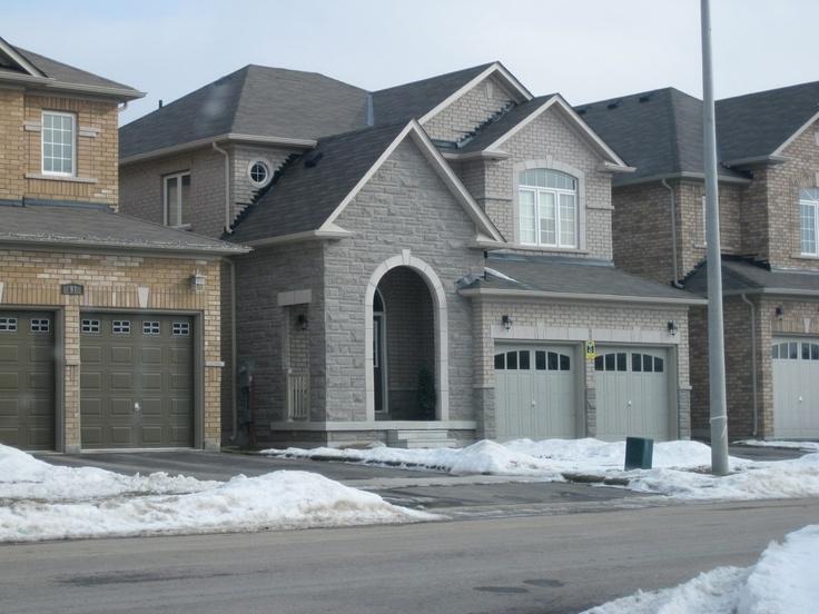 Grey Brick Home Grey Brick Homes Home Pinterest