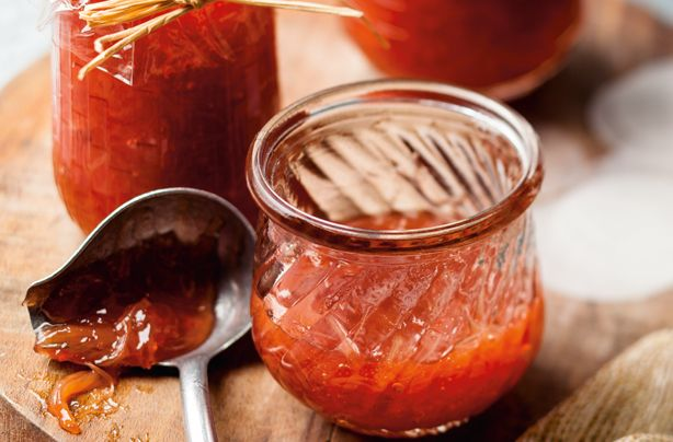 Rhubarb jam recipe - this delicious treat is sweet and sour, and perfect for spreading between sandwich cakes! It will take 1 hour to make, and it requires only 3 ingredients!