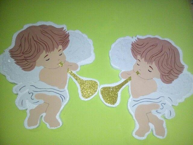 Angelitos para bautizo