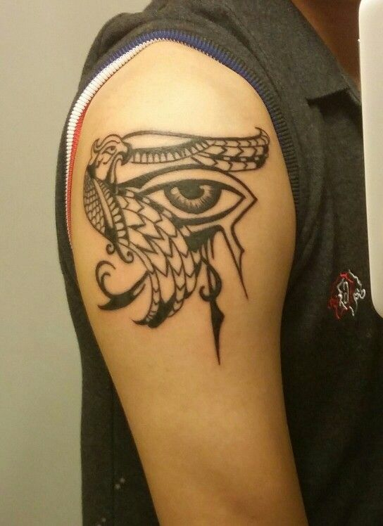 Customized eye of ra tattoo