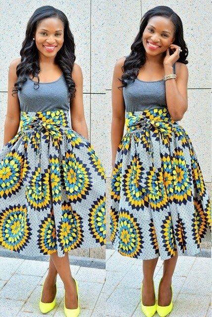 Ankara Skirt and Blouse Design - DeZango Fashion Zone