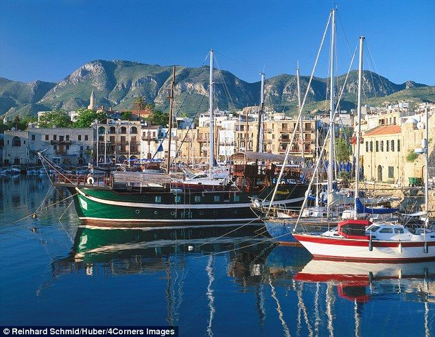 Good value: You can dine out cheaply at lovely Kyrenia in Northern Cyprus