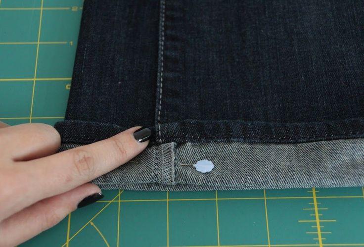 Anleitung: Originalsaum einer Jeans umnähen