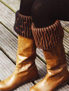 """Laars Manchetten """"Boot Cuffs in Brioche"""" pattern by Nancy Marchant"""
