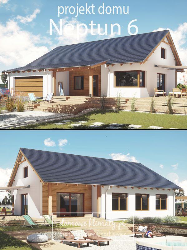 Projekt nowoczesnego parterowego domu o powierzchni ponad 120 m2 z dwuspadowym dachem i dwustanowiskowym garażem. Budynek posiada wszelkie niezbędne dogodności odpowiednie dla zamieszkania przez 4, a nawet 5 osobową rodzinę. Otwarty na ogród salon z jadalnią oraz kuchnia tworzą rozległą strefę dzienną, która sprzyja spędzaniu wspólnego czasu przez całą rodzinę.