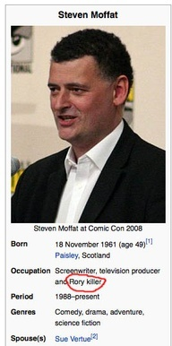 Steven Moffat the Rory Killer, Doctor Who It's true Rory died in every other episode last season ;-;