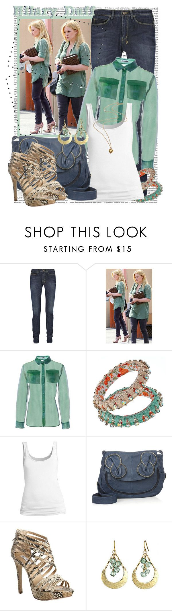 """""""Hilary Duff"""" by crystal85 ❤ liked on Polyvore featuring Lauren Ralph Lauren, Ksubi, Jil Sander, BP., See by Chloé, Kelsi Dagger Brooklyn and Alicia Marilyn Designs"""