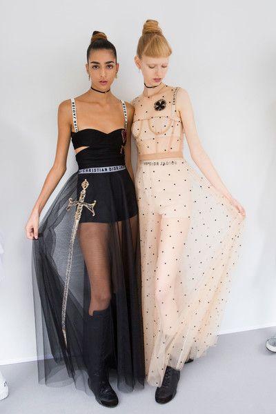 Christian Dior at Paris Fashion Week Spring 2017 - Backstage Runway Photos