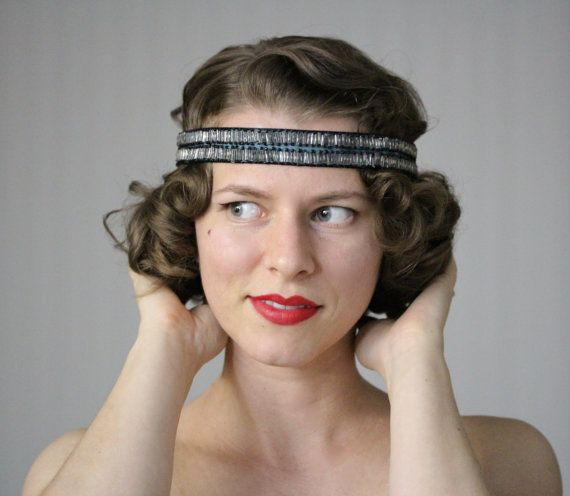 Perfect Gatsby Flapper Headband by ChatterBlossom  #flapper #1920s #20s #deco #headband #hair #vintage #gatsby
