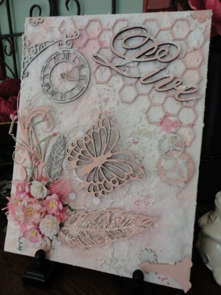 Gina's Designs Mixed Media Canvas by Scraphappily - Cards and Paper Crafts at Splitcoaststampers