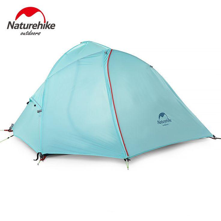 NatureHike Waterproof Camping Tent 4 season 1-2 man 2 Color Hiking Tent Aluminum Pole One Bedroom Portable Camping Tent