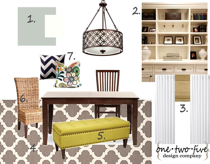 One Two Five Design Company Dining Room Mood Board