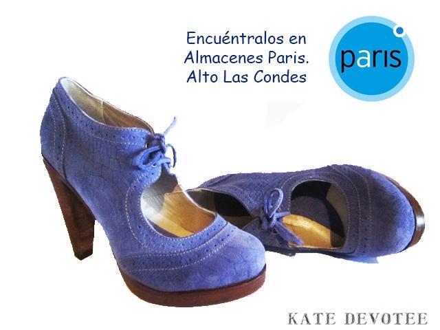 Zapato Renobuck Azul. Encuéntralos en Almacenes Paris Alto las Condes.  $70000 Tallas 39 al 40 100% Cuero   Visita nuestra Tienda Online:  www.katedevotee.cl www.katedevotee.b... Síguenos en Facebook y Twitter